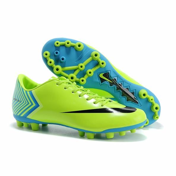 Football Cleats vector | Nike Mercurial Vapor X 10 AG CR7 Yellow Green Football Shoes Vector