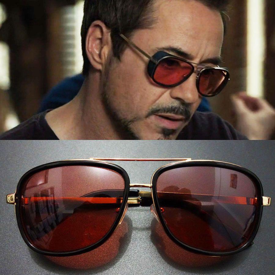 f01c03f6fb2 Sunglasses Vintage Tony Stark Iron Man Sunglasses Men Luxury Brand   SunglassesVintage  Sunglasses
