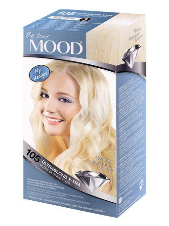 mood slingblond för mörkt hår