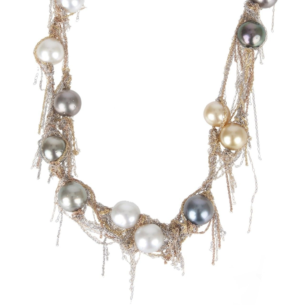 Hirshleifers - Martin Bernstein - Tahitian South Sea Pearl Necklace (Silver/Gold/Pearl), $5,950.00 (http://www.hirshleifers.com/jewelry/fine-jewelry/necklaces/martin-bernstein-tahitian-south-sea-pearl-necklace-silver-gold-pearl/)