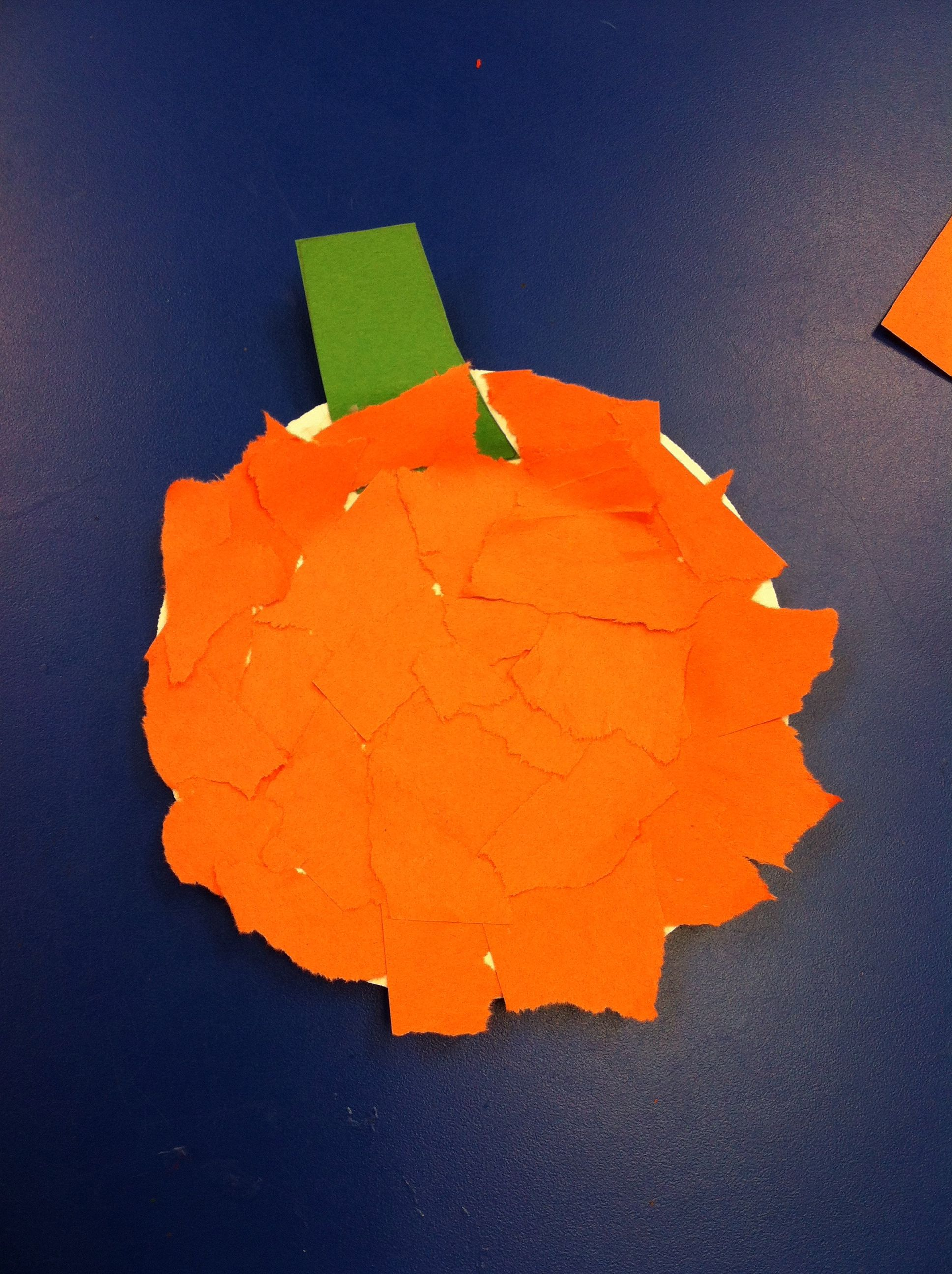 arts and crafts preschool pumpkin for toddlers