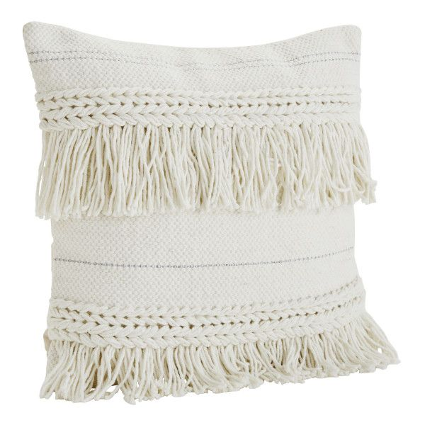 White Braid Cushion ($82) ❤ liked on Polyvore featuring home, home ...