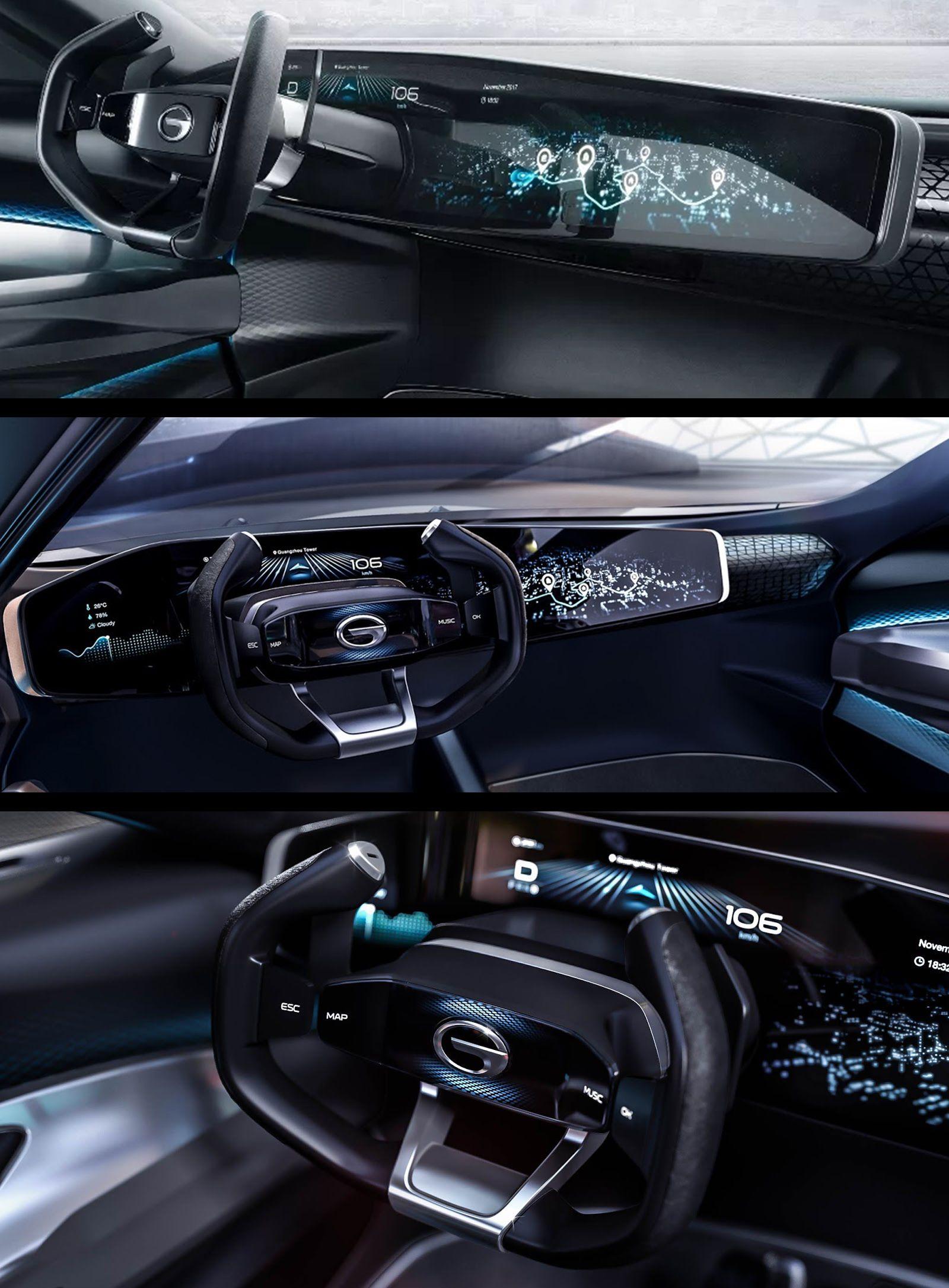 GAC Enverge concept Detroit 2018 UX / UI HMI Car Interior Sketch Car Interior Design & GAC Enverge concept Detroit 2018 UX / UI HMI | car interior | Car ...