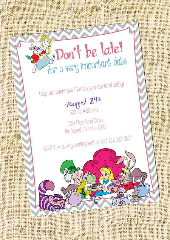 Wonderland Baby Shower Invitation Sets