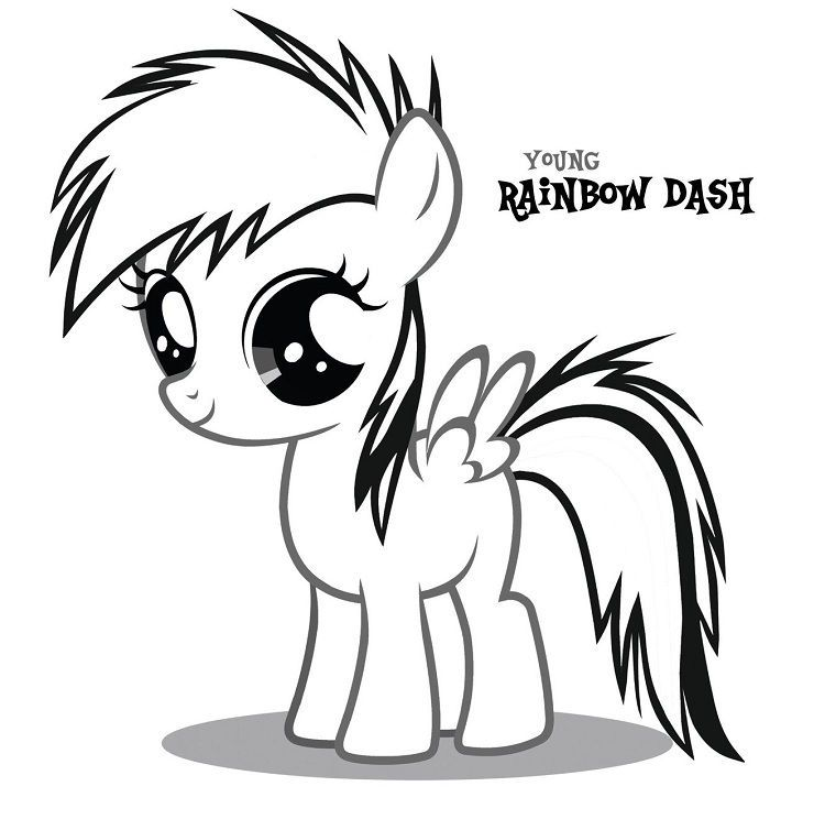 My Little Pony Coloring Pages Rainbow Dash Baby In 2020 My Little Pony Coloring My Little Pony Baby Coloring Pages