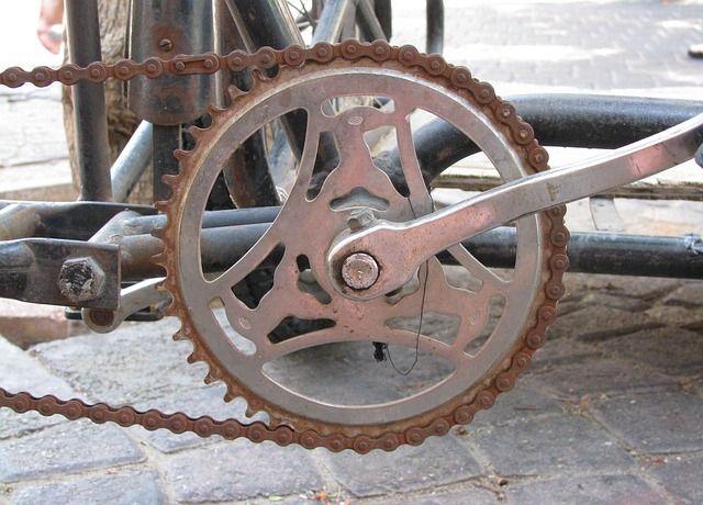 Bicycle Rusty Metal Old Bike Chain Bicycle Bike Bicycle