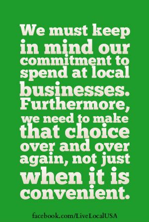 Not a fad, or something to do just with friends...once in a while. Are you actually committed to spending at local businesses? #loveyourlocal #shopsmall