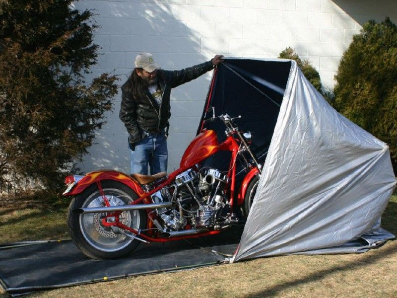 Motorcycle portable storage shed motorcycle storage shed for Motorcycle storage shed