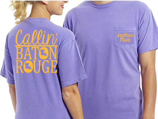 967127cf Callin' Baton Rouge Shirt - Comfort Colors or Gildan - All Styles