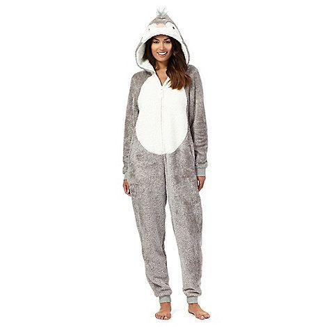 exquisite design 100% authentic website for discount Lounge & Sleep Grey fleece penguin onesie- at Debenhams.com ...