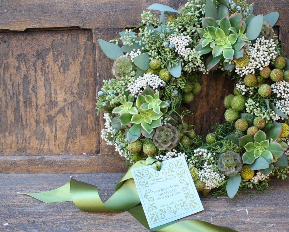 Succulent berzilia berries eucalyptus holiday wreaths