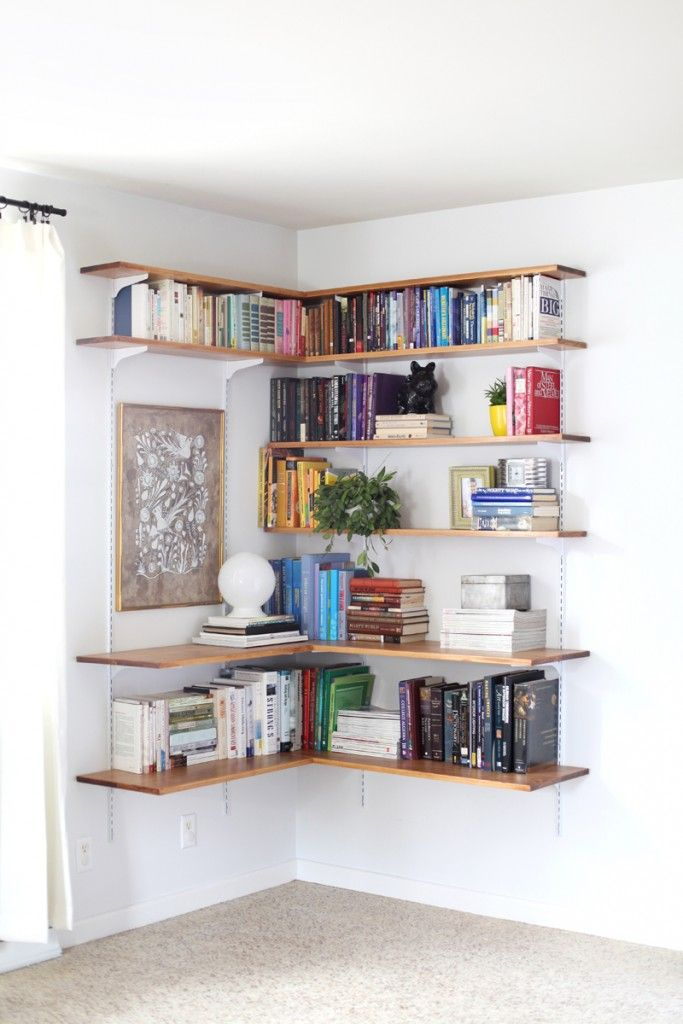27 Sneaky Tips For Small Space Living Page 5 Of 28 How To Build It Etagere Murale Angle Idee Deco Deco Maison