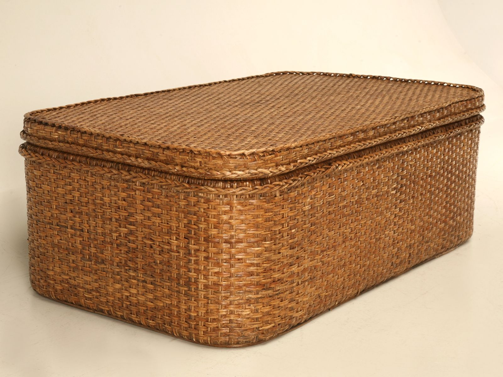 Square Wicker Trunk Coffee Table