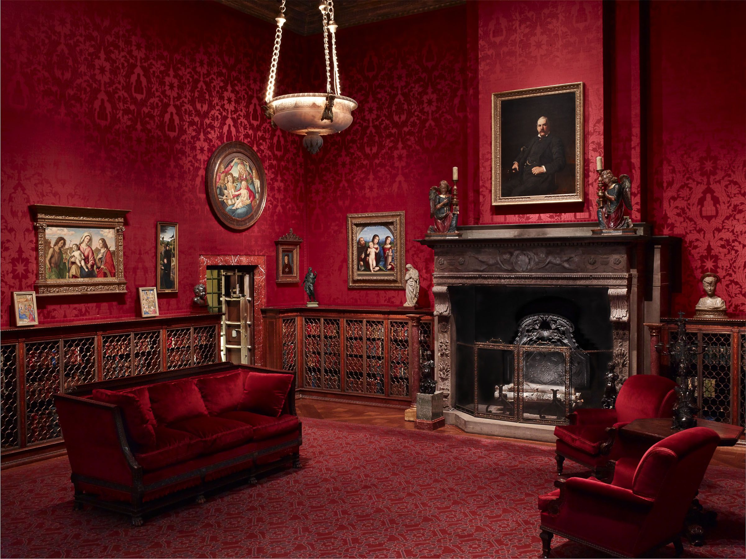 Red Victorian Bedroom dark-victorian-living-room-with-extraordinary-living-room-design
