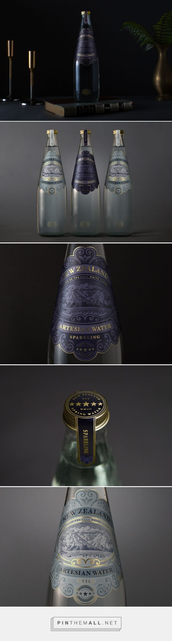 New Zealand Beverages Brand Artisan Water Packaging by Marx Design | Fivestar Branding Agency – Design and Branding Agency & Curated Inspiration Gallery
