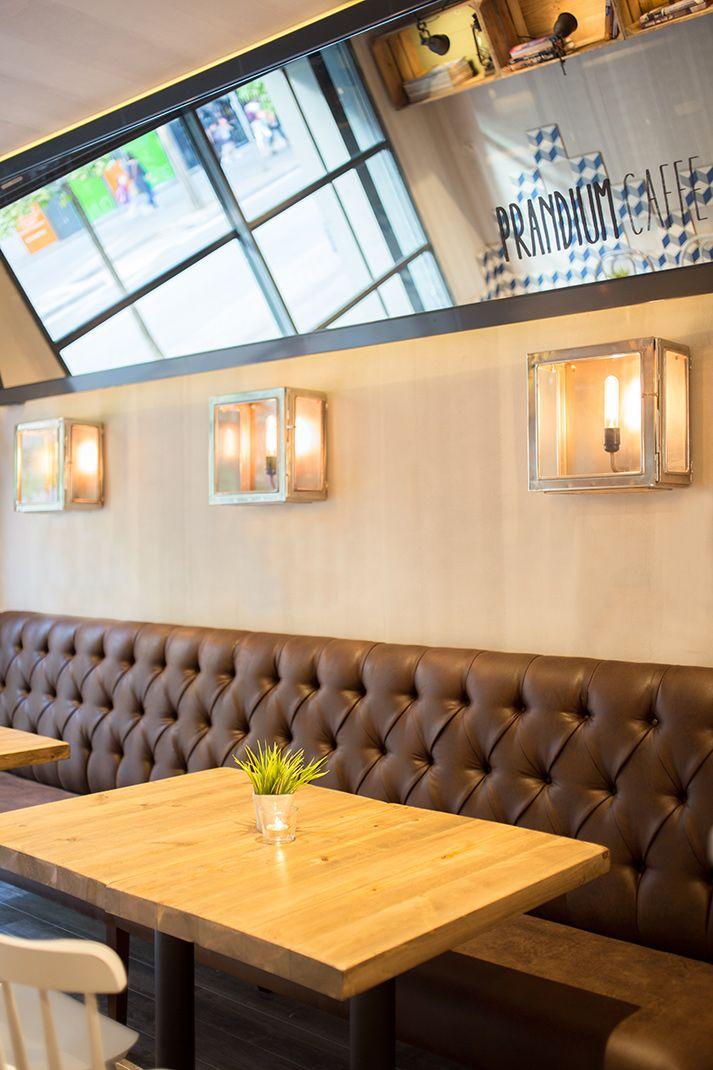 Fotos. Mesas, sillas, bancos, muebles, cafetería Prandium. | ideas ...