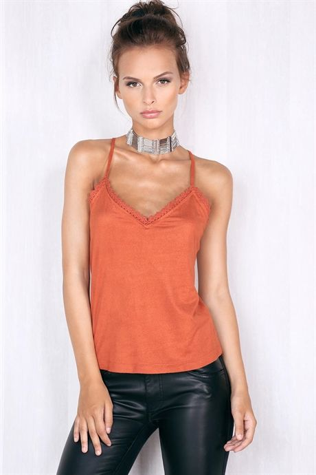Janelle Suede Top