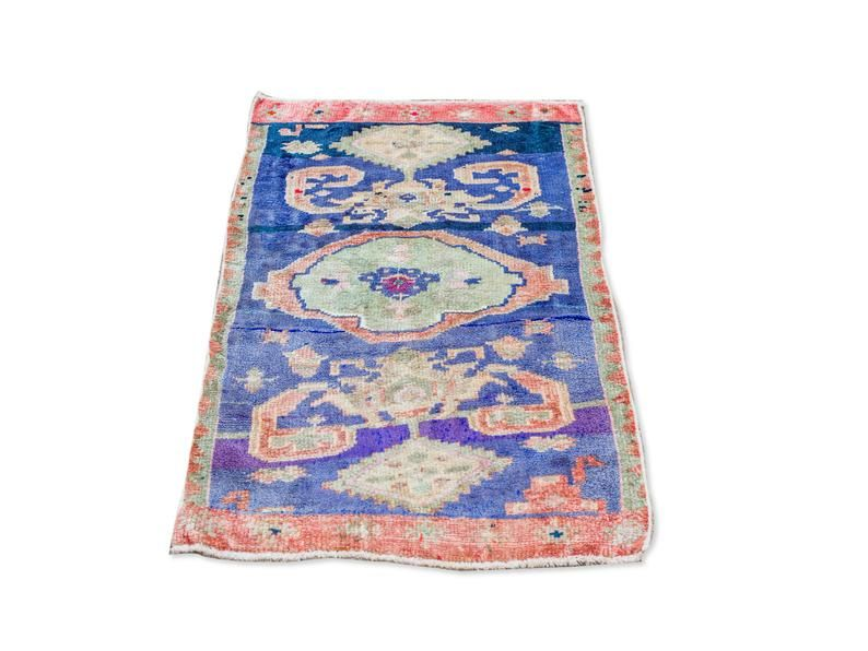 cobalt purple turkish rug 3x5 kitchen mat bathroom rug boho style oushak rug in 2020 rugs on boho chic kitchen rugs id=13567