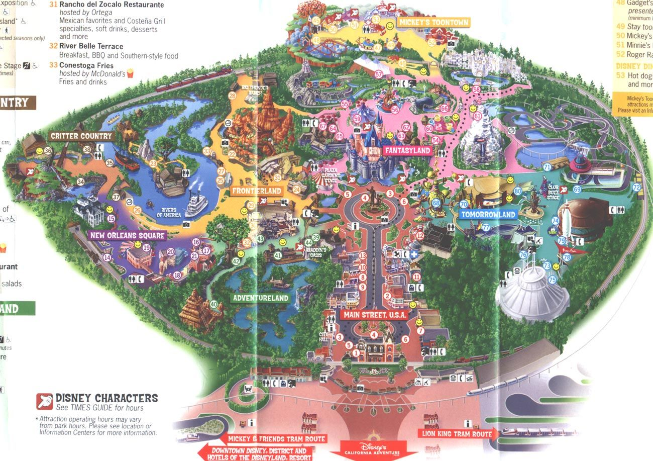 Disneyland map 2006   Places I ve been and loved   Pinterest     Disneyland map 2006