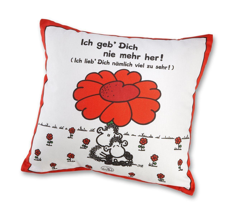 Sheepworld 40854 Baumwoll Kissen Mit Spruch Ich Geb Dich Nie Mehr