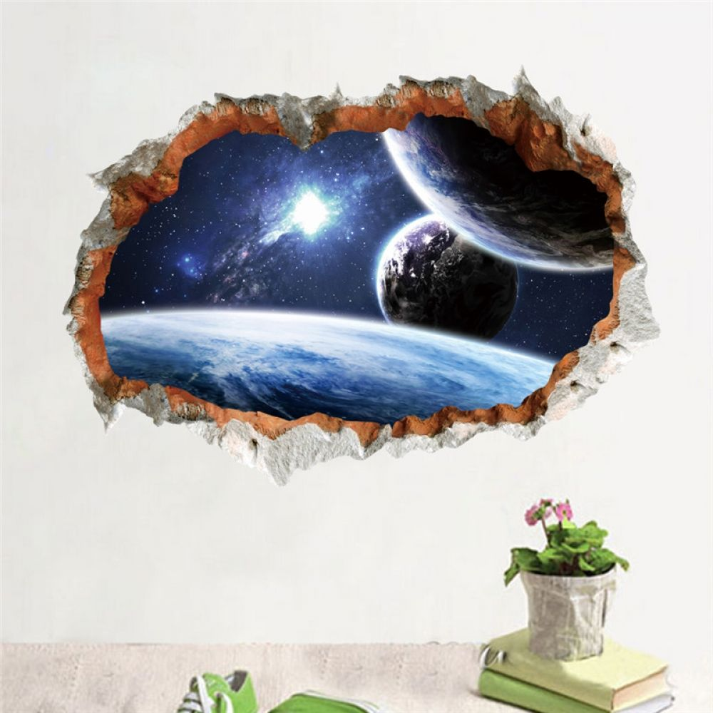 1PC 3D Outer Space Vinyl Art Home Decor Removable Galaxy Wall Sticker Decals