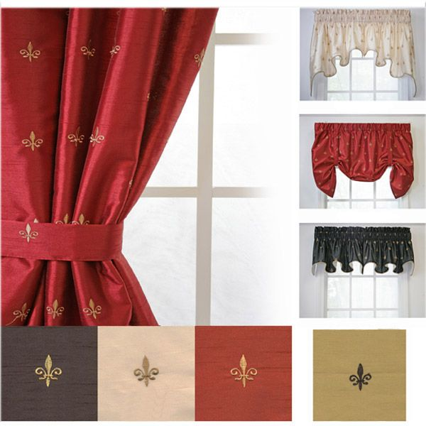 Wonderful Are Your Windows Ready For A Modern Update In Clic Colors And. Loading.  Ellis Curtain Fleur De Lis ...