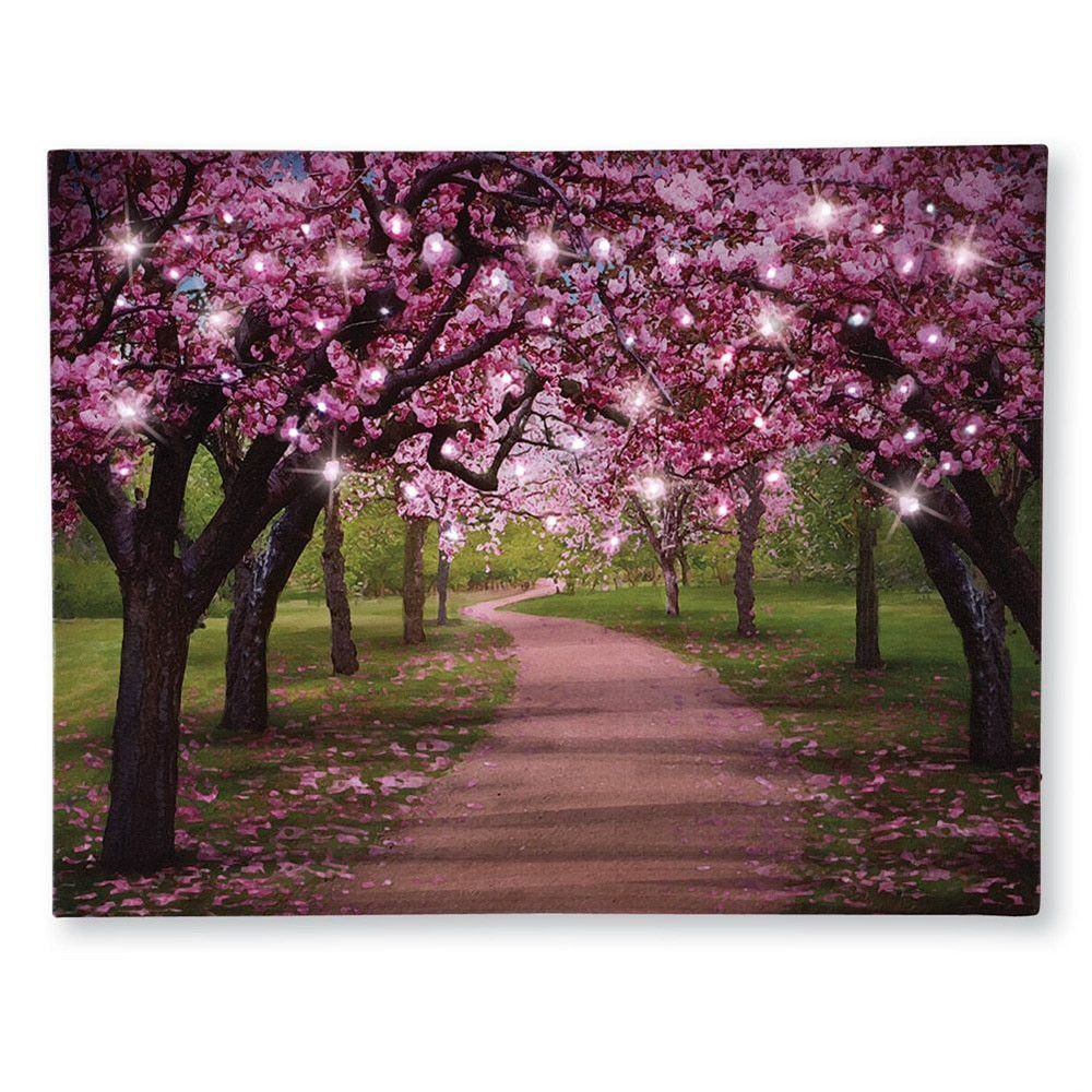 Wall Lighted Canvas Decoration Hanging Cherry Blossom Art Led Lights Home Gifts 24 99 Home Decor Catalogs Diy Home Decor Led Lighting Home