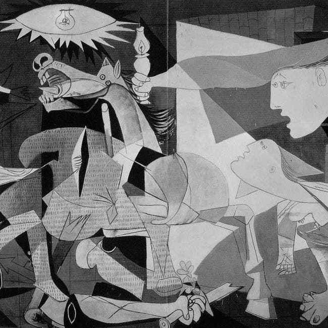 Guernica is listed (or ranked) 1 on the list List of Famous