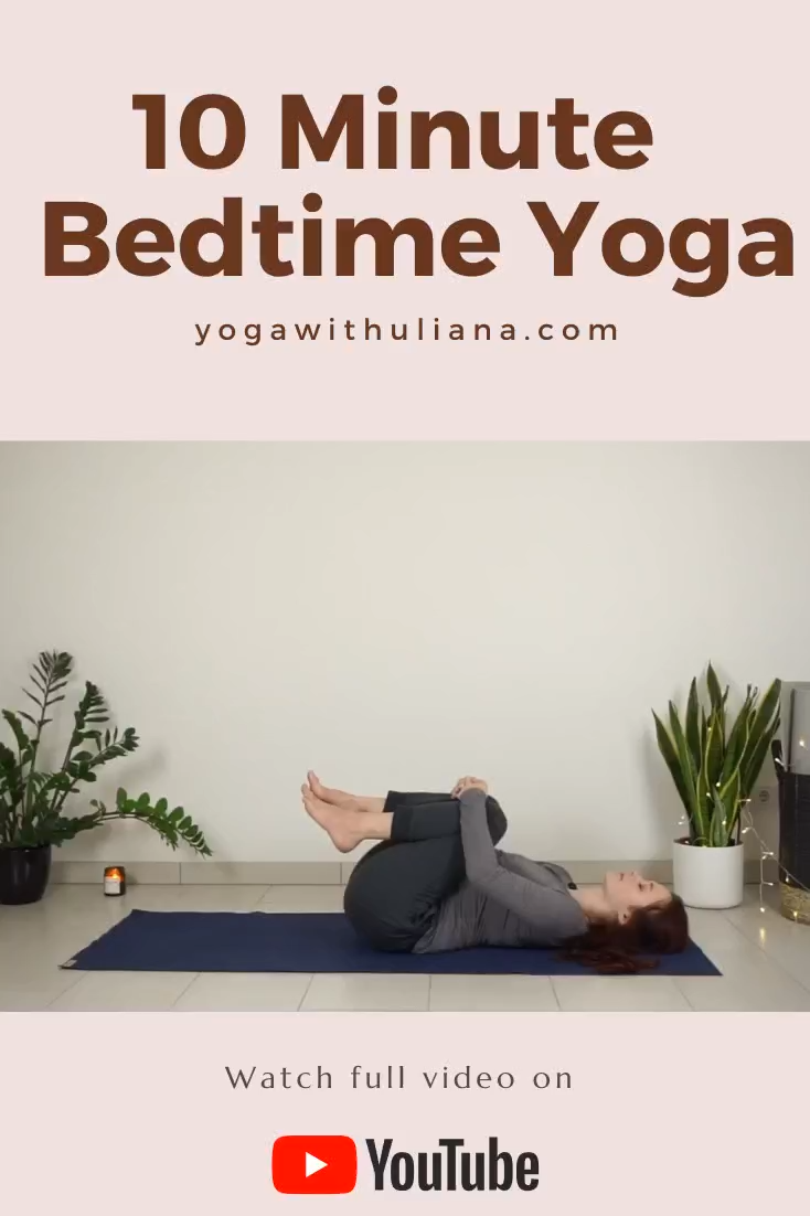 Join me for a short bedtime yoga practice to stretch and relax the body and prepare for good night sleep. You can wear any comfortable clothes for this sequence, maybe even do it directly in your pajamas :)