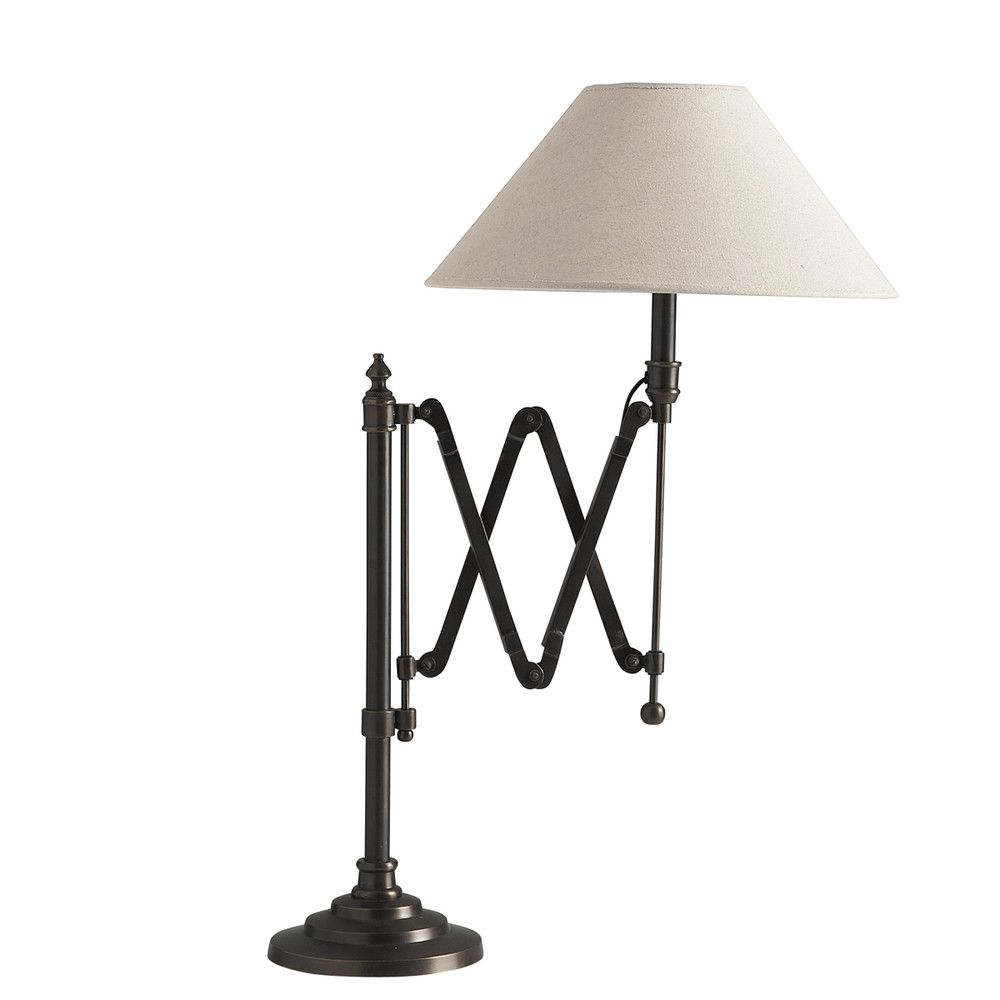 Cologne Metal Accordion Bedside Lamp With Cotton Lampshade H 63cm Lamp Bedside Lamp Task Lamps