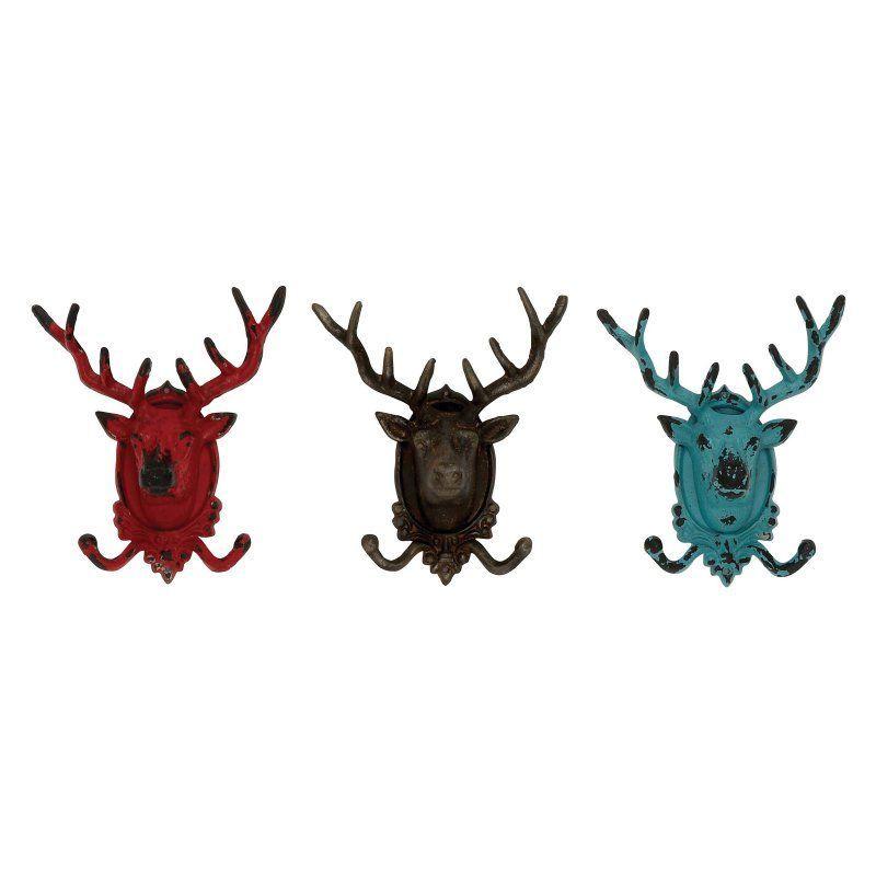 UMA Enterprises Metal Deer Hook - Set of 3 - 55485
