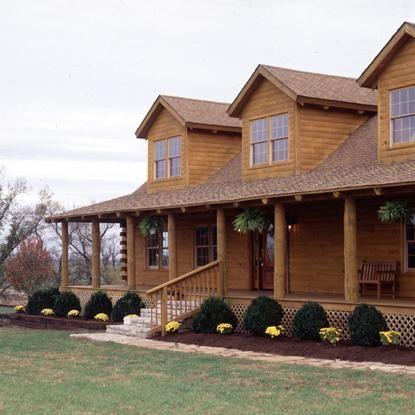 Yellow Pine Log Home In Kentucky Log Homes Old Farm Houses Home