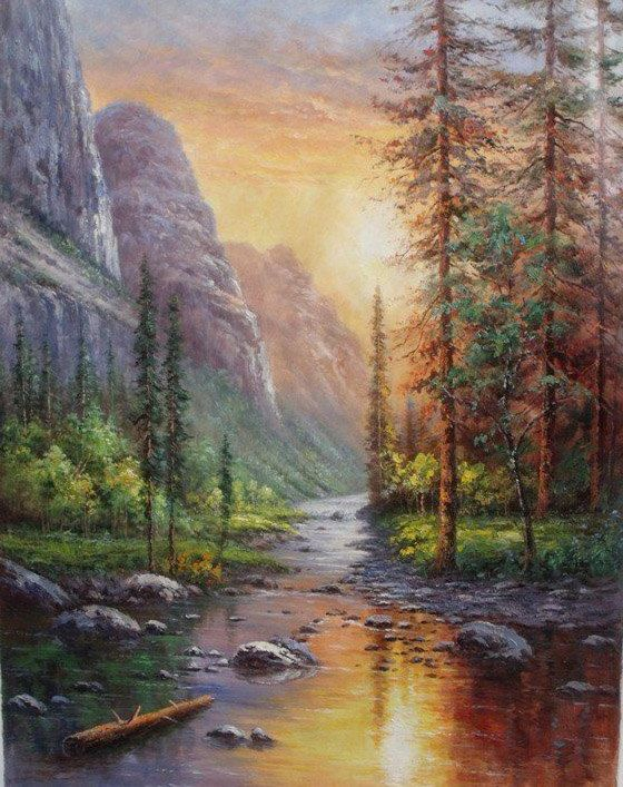 Original Oil Painting Custom Hand Painted Decorative Original Landscape Painting And Oil Portrait P Original Landscape Painting Oil Painting Portrait Painting