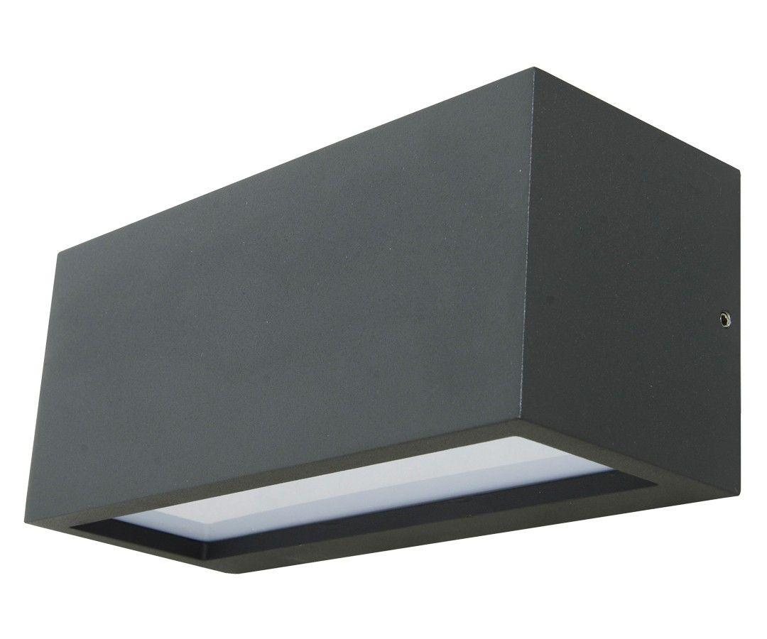 Tucson 1 Light Up/Down Exterior Wall Bracket In Charcoal