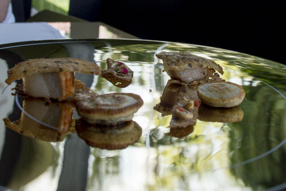Les Cols Restaurant Olot Appetite And Other Stories Hot Sandwich Michelin Restaurant Food