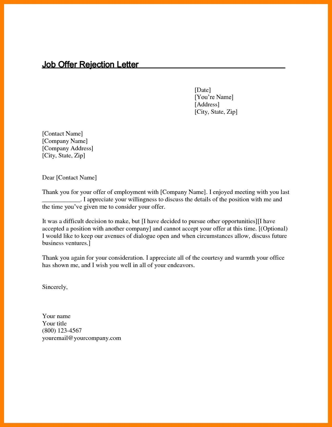 Valid Reply Letter For Job Offer Sample You Can Download For Full Letter Resume Template Here Http Newspb Or Job Rejection Letter After Interview Job Offer