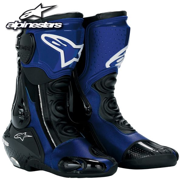 Alpinestars S-MX Plus Racing Boots Blue 2010 Model http://stores ...