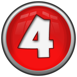 4 number 4 icon red orb alphabet iconset icon archive 4 s