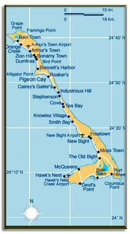 Cat Island, Bahamas Map | Writing A Novel Research | Cat island ...