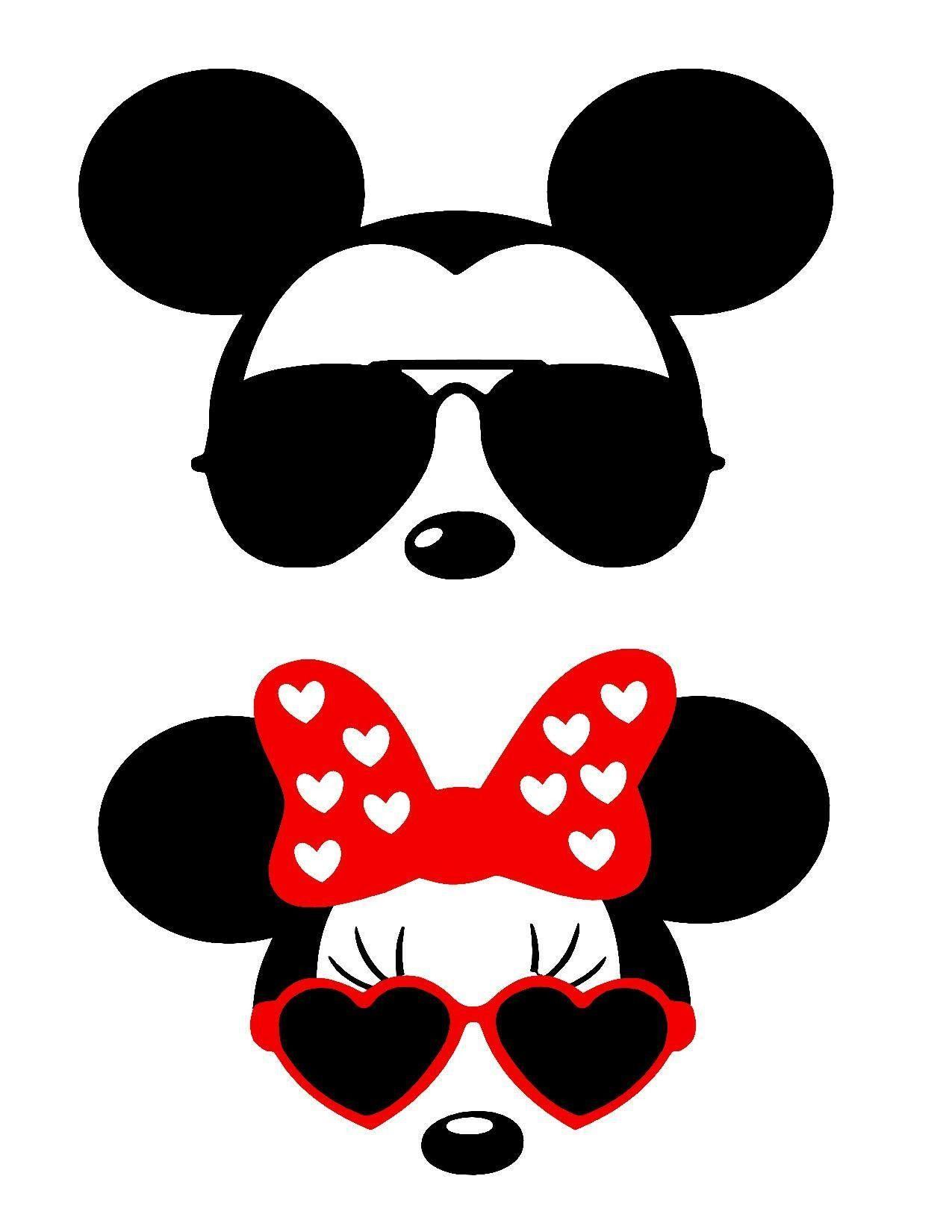 Transparent Minnie Mouse Bow Template
