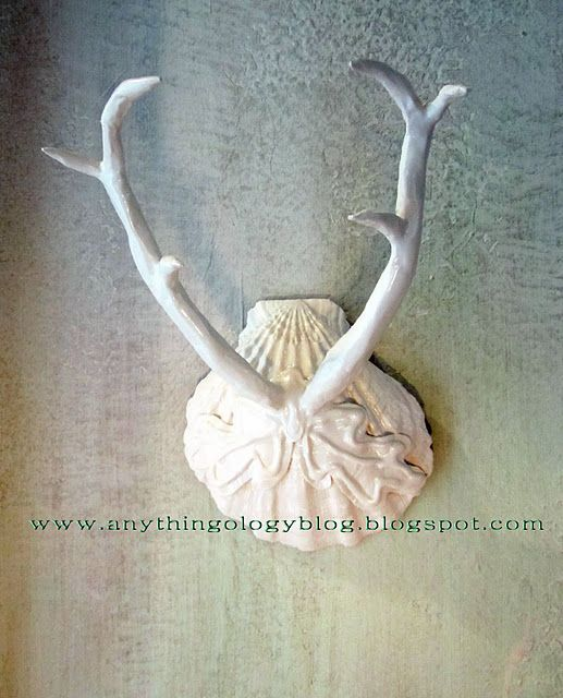 I might let Andy put antlers on the wall, if he'd let me paint them white and look pretty.