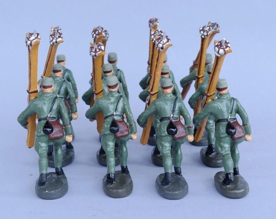 Rarität Gebirgsjäger Soldaten mit Schi Maultiere Elastolin Lineol   eBay