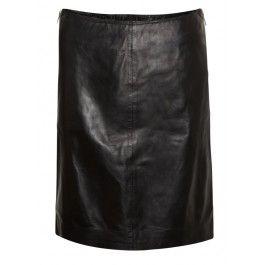 Muubaa Dani Leather Skirt - Black #muubaa #leatherskirt #black #aw13