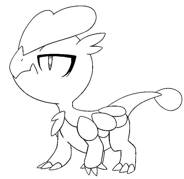 Jangmo O Pokemon Coloring Pages Pokemon Sketch Pokemon