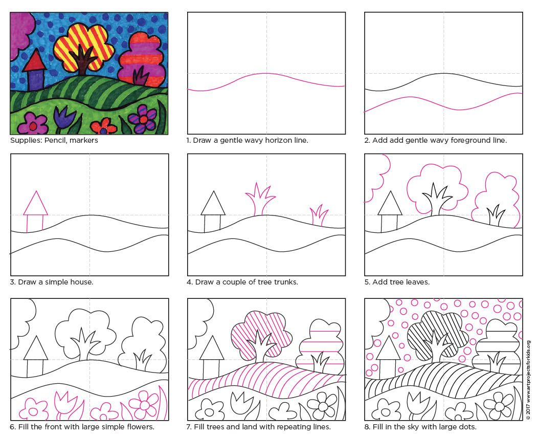 Draw a Pop Art Landscape · Art Projects for Kids