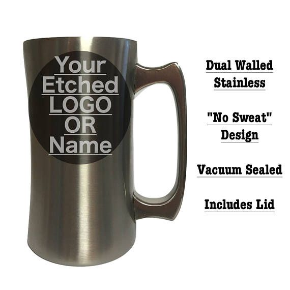 These 20 Oz Stainless Beer Mugs With Lids Keep Your Drinks As Cold Science Allows Great For Wedding Gifts Employee Promotion