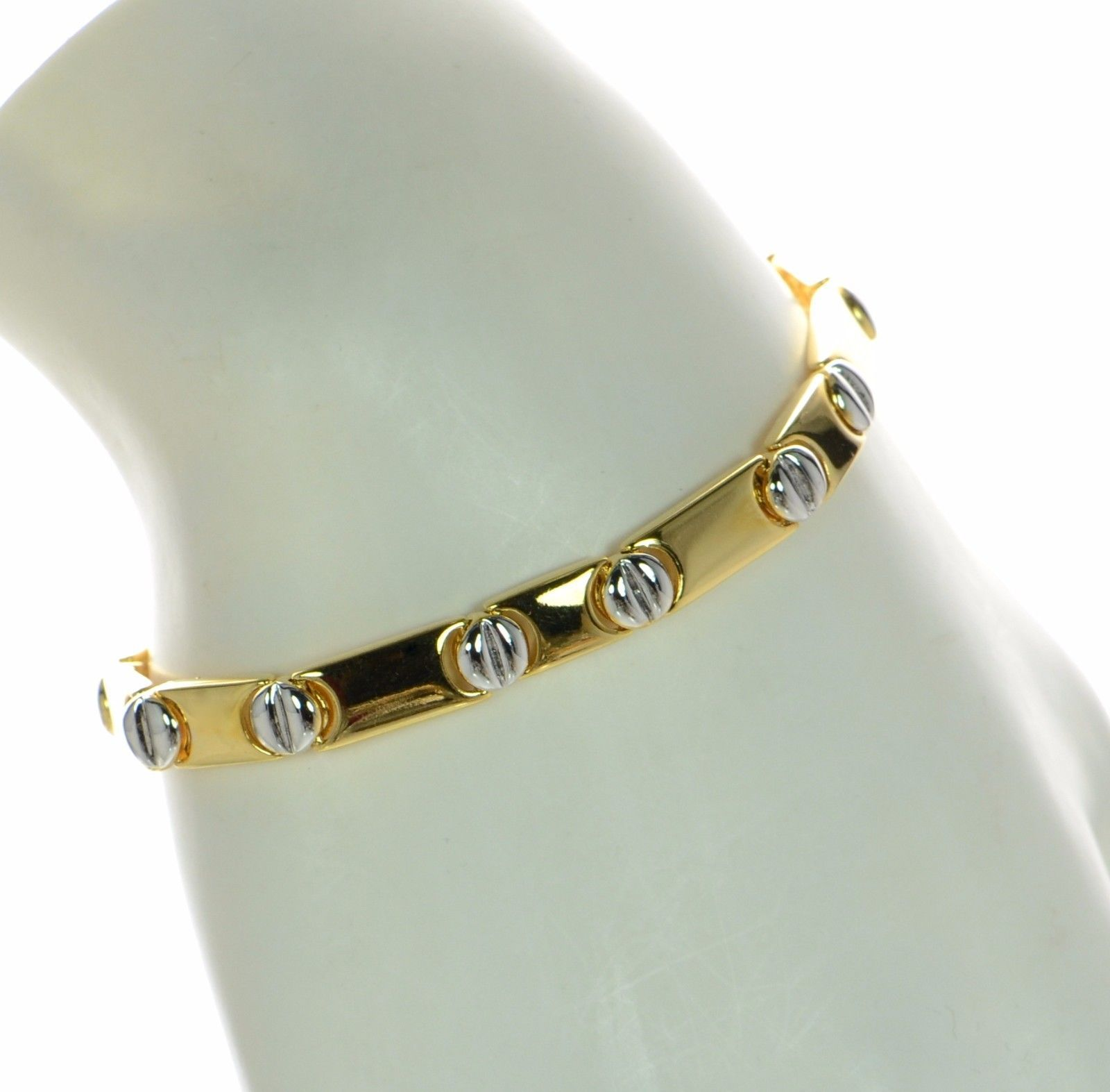 head open stud cubic in bracelets gold end bangle nail bracelet