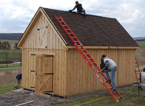 10 X 12 Cabin Shed Board And Batten Raised Roof Sheds Garages Building A Storage Shed Storage Shed Plans Diy Shed Plans