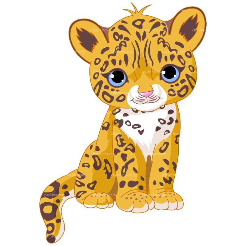 clipart baby jaguar sit royalty free vector design pic cutie rh pinterest com cheetah clip art images clipart cheetah black and white