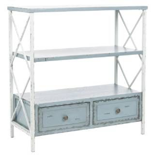 Check out the Safavieh AMH6551A Chandra Console in Distressed Pale Blue/White